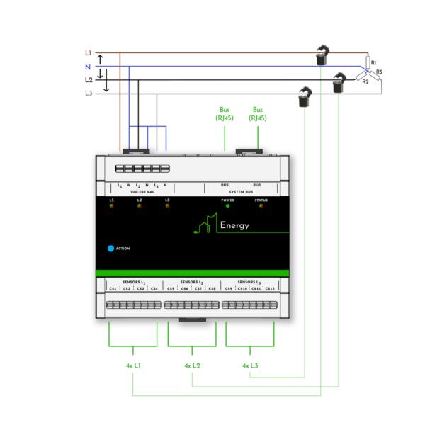 Aansluitschema Energy module